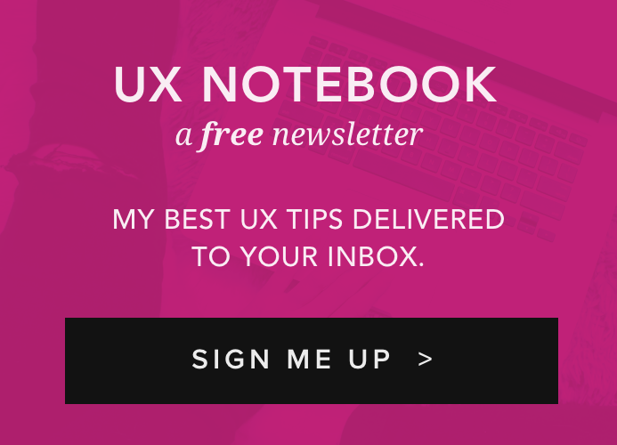 The UX Notebook - A Weekly UX Newsletter