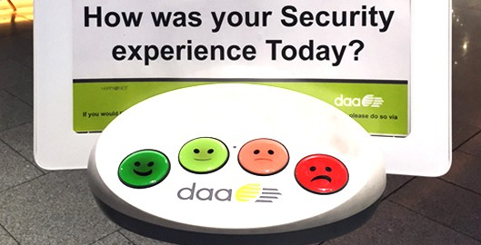 Example of microfeedback at the Dublin Airport security checkpoint