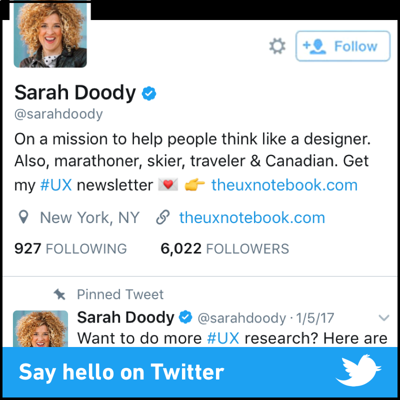 Follow Sarah Doody on Twitter