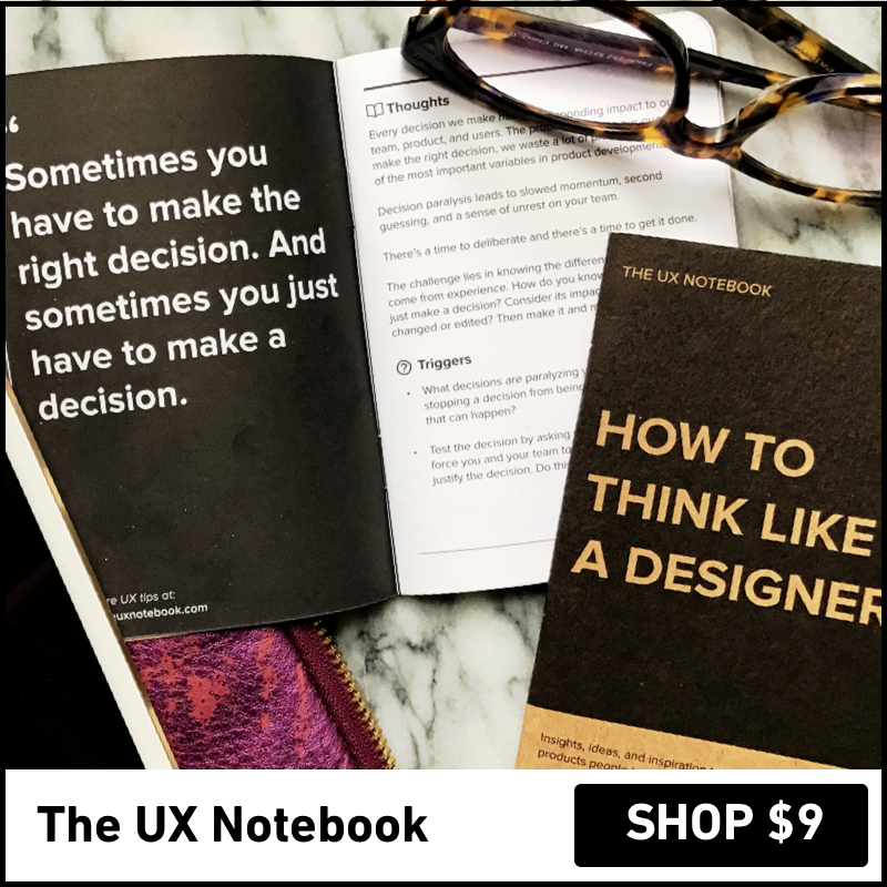 The UX Notebook: A ocked sized notebook for designers