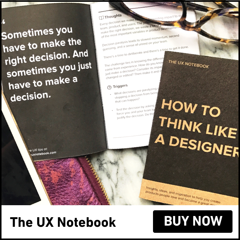 The UX Notebook: A pocket-sized notebook for designers