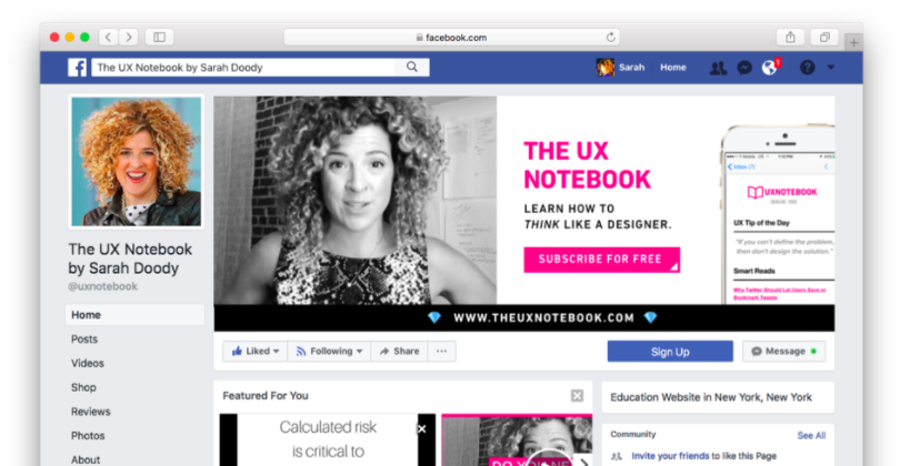 The UX Notebook on Facebook